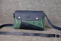Кожаная женская сумка Kiki | Синий-Изумруд