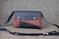 Кожаная женская сумка Kiki | Синий-Бордо, фото 1