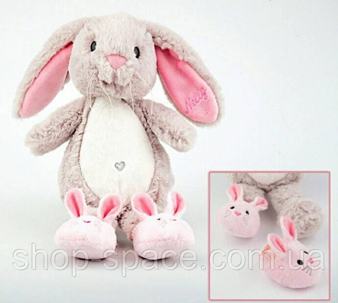 Плюшевый кролик Нелли, 21 см