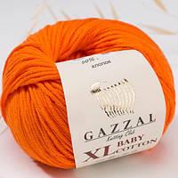 Пряжа GAZZAL Baby cotton XL 3419 (Газзал Беби КотонXL) апельсин