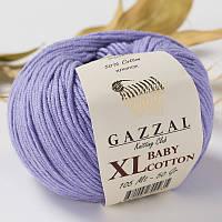 Пряжа GAZZAL Baby cotton XL 3420 (Газзал Беби КотонXL) лаванда
