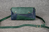 Кожаная женская сумка Kiki | Изумруд-Синий