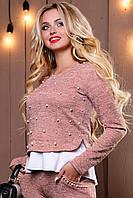 Женский розовый свитшот 2500 Seventeen 44-50 размеры