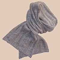 Вязаный шарф - петля мраморно - серого цвета