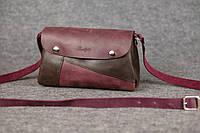 Женская кожаная сумка Kiki | Бордо-Кофе