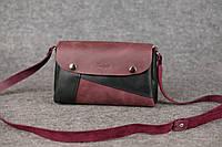 Женская кожаная сумка Kiki | Бордо-Графит