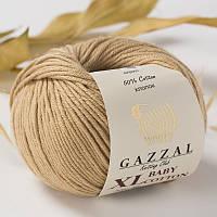 Пряжа GAZZAL Baby cotton XL 3424 (Газзал Беби КотонXL) беж