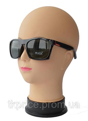 1755d4fd9295 Мужские солнцезащитные очки со стеклянными линзами качественная реплика  Prada, фото 2
