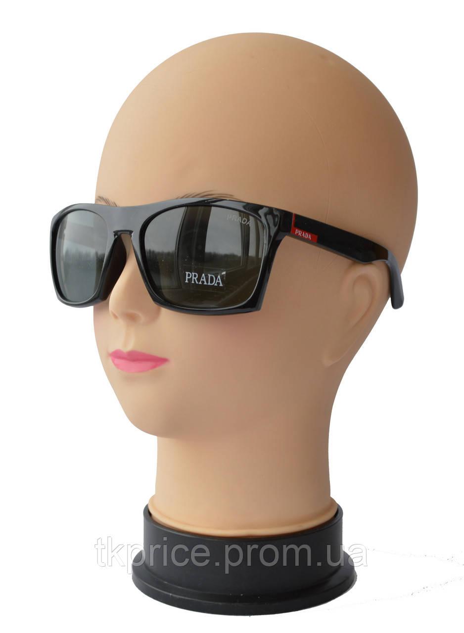 Мужские солнцезащитные очки со стеклянными линзами качественная реплика  Prada - Интернет-магазин