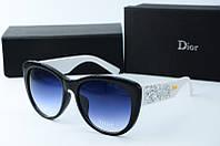 Солнцезащитные очки Dior черные с белым, фото 1