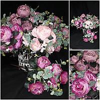 Роскошная интерьерная роза, выс. 53 см., 11 веточек, 215/195 (цена за 1 шт. + 20 гр.)