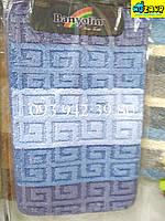 Набор ковриков для ванной и туалета 80*50 (сине-голубой)