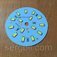 Светодиодная сборка круглая 7W 6000K на ал. диске 66мм, питание 12В