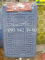 Набор ковриков для ванной и туалета 80*50 (светло-голубой)