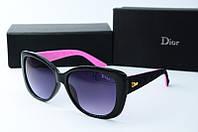 Солнцезащитные очки прямоугольные Dior черные с розовым, фото 1