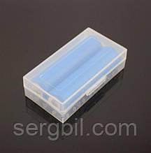 Пластиковая прозрачная коробка для хранения двух аккумуляторов  18650 (А)