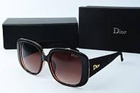 Солнцезащитные очки прямоугольные Dior коричневые, фото 1