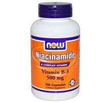 Ниацинамид, Now Foods, Витамин В3,  500 мг, 100 капсул