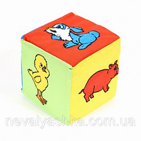 Погремушка развивающая Кубик-погремушка Животные 002926