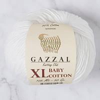 Пряжа GAZZAL Baby cotton XL 3432 (Газзал Беби КотонXL) белоснежный