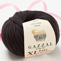 Пряжа GAZZAL Baby cotton XL 3433 (Газзал Беби КотонXL) черный