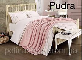 "Постельное бельё Евро с вязаным пледом First Choice Nirvana Style ""Pudra"""