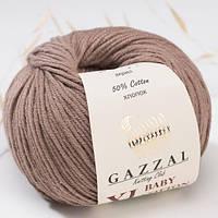 Пряжа GAZZAL Baby cotton XL 3434 (Газзал Беби КотонXL) какао