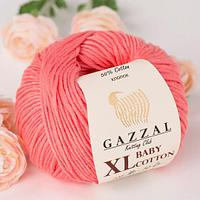 Пряжа GAZZAL Baby cotton XL 3435 (Газзал Беби КотонXL) лосось