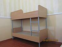 Кровать детская 2-яр. на металокаркасе из ДСП 1400-600