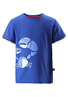 Футболка для мальчика из материала Jersey Kirppu Reima 516343-6640. Размеры 80-128.