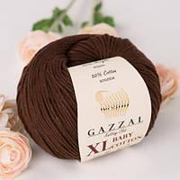 Пряжа GAZZAL Baby cotton XL 3436 (Газзал Беби КотонXL) коричневый