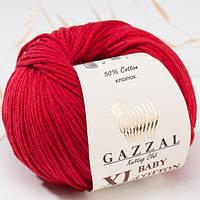 Пряжа GAZZAL Baby cotton XL 3439 (Газзал Беби КотонXL) красный