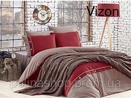 "Постельное бельё Евро с вязаным пледом First Choice Nirvana Style ""Vizon"""