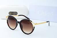 Солнцезащитные очки круглые Chloe коричневые, фото 1