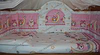 Детское постельное белье. Бортики высокие (40 см) и комплект постели в кроватку детскую, фото 1