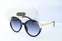 Солнцезащитные очки круглые Chloe черные, фото 1