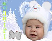 Детская шапка Мышка