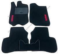 Текстильные коврики в салон Suzuki Jimny 1998->, 5шт.(ML, чёрный)