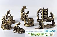 """Набор из 8-ми фигурок """"Мастера"""", бронза., фото 1"""