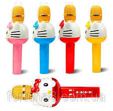 Детский портативный караоке микрофон  с колонкой Hello Kitty U63, фото 3