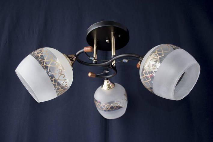 Люстра на 3 лампочки  2192-3 (BK+FG), фото 2