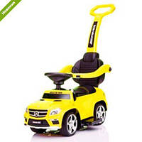 Классная машина-толокар Mersedes 3в1, качалка, кожанное сидение, MP3, музыка, резиновые колеса