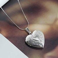 Кулон для фотографий открывающийся Сердце, фото 1