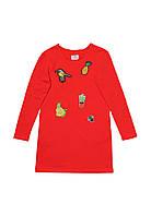 Детское платье для девочки с вышивкой красное