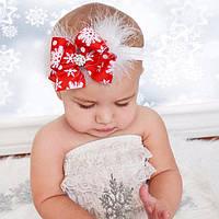Детская повязочка для девочки Новый год