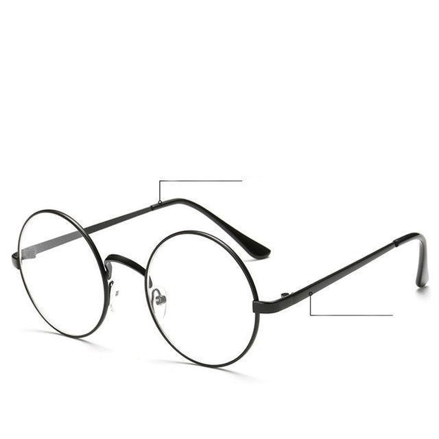 Очки для компьютера круглые в черной оправе, фото 1
