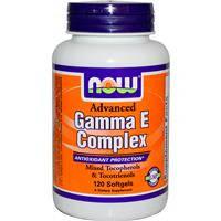 Витамин Е, Гамма Е комплекс улучшенный, Now Foods,  120 гелевых капсул