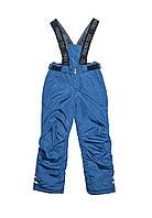 Зимние штаны для мальчика на подтяжках