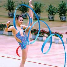 Гимнастическая лента с палочкой синяя