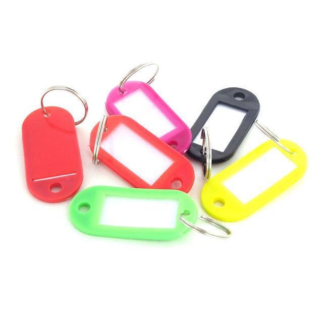 Номерки для гардероба бирки для ключей пластиковые 10 шт